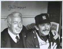 JOE DiMAGGIO and BILLY MARTIN - Photo Signed