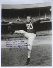 Giants HOFer KEN STRONG - Photo & Envel Signed