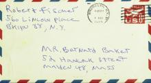 Chess Champ BOBBY FISCHER - Envelope Signed