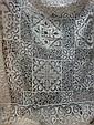 Couvre lit ou nappe, vers 1910 Lin et coton à