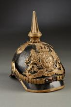 Early Bavarian Officer Candidate Parts Spiked Helmet.