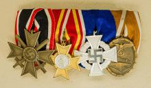 Third Reich Four Piece Medal Bar.