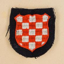 WWII Waffen SS Croatian Sleeve Shield.