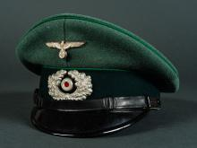 Third Reich Army Enlisted Jaeger Visor.