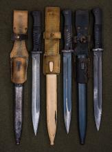 Group of Third Reich Army K98 Combat Bayonets.