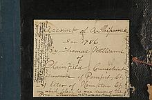 FIRST HAND SHIPWRECK ACCOUNT - 1786 Handwritten Record of the loss of the Sloop 'Fame' out of New London, Connecticut, owned by Howland & Coit, as recorded by Thomas Williams of Plainfield. The boat was lost off the D.