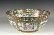 CHINESE EXPORT PUNCH BOWL - Fine Porcelain Punch Bowl, mid 19th c