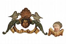 (2) ITALIAN ARCHITECTURAL APPLIQUES - 19th c