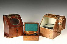 (3) MARINE NAVIGATIONAL INSTRUMENTS - Including: Small Victorian Mahogany Binnacle with a 3