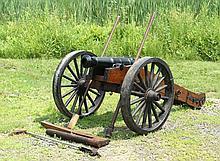 PRACTICAL REPLICA ARTILLERY CANNON - French & Indian War Militia Cannon, having 24