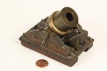 WORKING MODEL OF SIEGE MORTAR - Small Bronze Operational 18th-19th c
