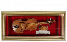 CIVIL WAR POW MADE MUSICAL INSTRUMEMNT - Hand Made Violin in pine and mahogany, made in 1864 by Cpl
