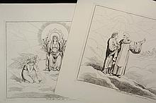 BARTELOMEO PINELLI (Italy, 1771-1835) - A Collection of (21) Original Engravings from the (145) print set of Dante Inferno/Paradisio/Purgatorio folio, printed in Rome 1825-1826, signed in plate, each with caption, con...