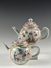 (2) CHINESE EXPORT TEAPOTS - Late 18th c