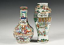 (2) CHINESE EXPORT PORCELAIN VASES - Both 19th c