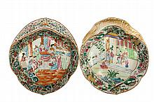 (2) CHINESE EXPORT DISHES - Scarce 19th c