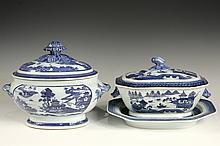 (2) CHINESE EXPORT SERVING PIECES - 19th c