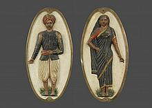 ANGLO-INDIAN TEMPLE MARKERS - 19th c