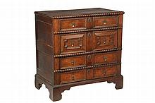 JACOBEAN STYLE CHEST OF DRAWERS - 19th c
