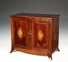 TABLETOP COLLECTOR'S CABINET - Custom Hepplewhite Style Miniature Cabinet, 20th c
