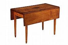 TIGER MAPLE DROPLEAF TABLE - Coastal Connecticut 18th c