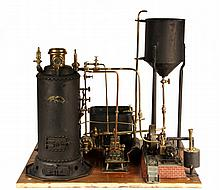 RARE STEAM POWER PLANT MODEL - An Early Historic and Extremely Rare Steam Power Plant Model, built by 'C.F. Dauxdater, Lehigton, PA, 1