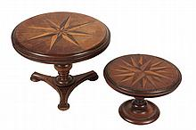 (2) MINIATURE TABLES - 19th c