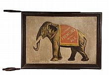 VINTAGE ENGLISH BEER SIGN - Exterior Street Post Sign for
