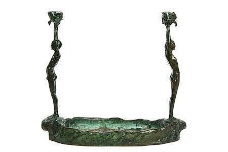 Figural Bronze 'Poppies' Valerie Harisse Walter
