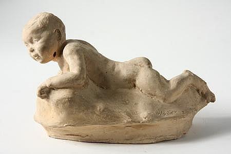 Terra Cotta Sculpture Baby Valerie Harisse Walter MD