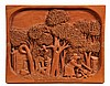 FOLK ART RELIEF CARVING - Pine Panel marked