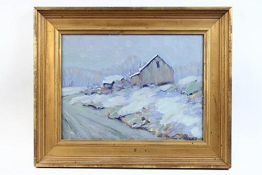OOB Farm in Winter John Howard Allen Maine