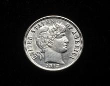 COIN - (1) 1912-D Barber Dime. Choice, nice type coin.