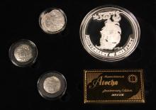 COINS - (5) Pc Atocha 375th Anniversary Collection Set 369/375, in black vinyl case.