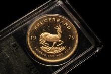 COIN - (1) 1979 South Africa Krugerrand 1 oz Gold, in capsule.