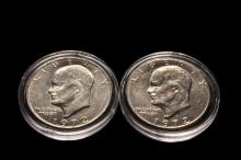 COINS - US Mint 1972 Eisenhower Dollar Collection.