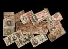 (31) FRACTIONAL BANK NOTES & (1) ADVERTISING NOTE - Including: (1) F1226 1863 Washington 3c; (12) F1257-61 1863 Liberty 10c; (1) F1316 1863 Washington 50c sub chg 18-63; (1) F1331 1863 Spinner 50c; (2) F1376 1866 Stan...