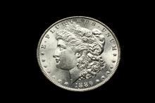 COIN - (1) 1886 Morgan Dollar, CH BU.