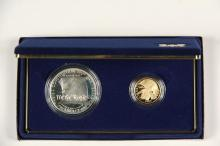 COINS - (2) Pc 1987 Constitution Set with papers & box, BU.
