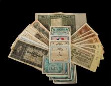 FOREIGN CURRENCY - Approx. (56) Pcs Foreign Currency, some common, some scarce, worth a close look. Cat 350-450.