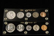 COINS - (2) Proof Sets 1954 in Capitol Holders.