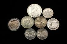 COINS - Lot of (9) Misc Foreign Silver Coins.