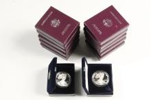 COINS - (12) American Eagle Silver Proof Coins, include: (2) 1986; 1987; (2) 1989; (5) 1990; 1997; 1998.