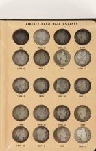 COINS - Book of Liberty or Barber Halves, mostly different dates, $26 face.