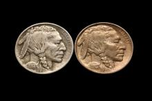 COINS - (2) Buffalo Nickels, includes: (1) 1913 Type 2, AU Unc; (1) 1914 D, VF-XF.