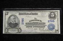CURRENCY - Series 1902 $5 National Bank Note with Lyons and Roberts signatures, from the Bank of Limerick Maine. Crisp.