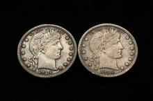 COINS - (2) 1914 Barber Quarters. One VF, One VF-XF.