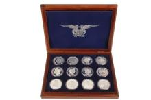 COINS - Boxed Set of Copies of Rare American Coins, made in .999 Silver, each weigh 2.0 oz. PLUS (8) extra pieces, total of 20 = 40 oz .999.