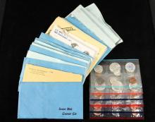 COINS - (14) US Mint Sets include: (7) 1982, made from Souvenir Sets; (3) 1984, the same; (2) 1989, no envelope; (1) 1964, no envelope; (1) 1964, Proof Set original.