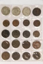 COINS - Very interesting Book of Coins: Foreign with Silver, Tokens and US Mint pieces.